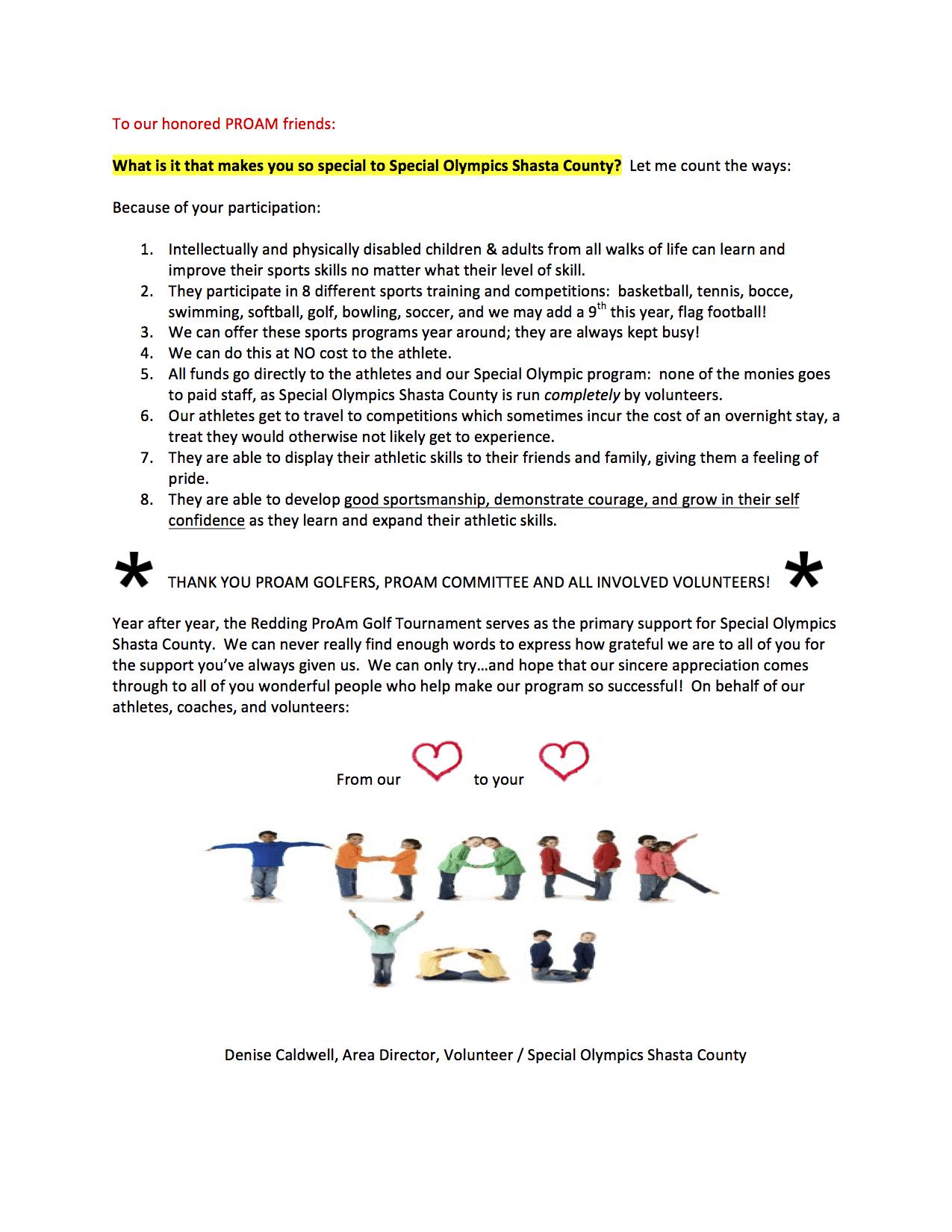 2017 ProAm thank you letter